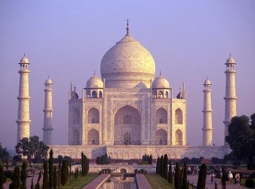 Agra, The Taj Mahal : Stock Photo