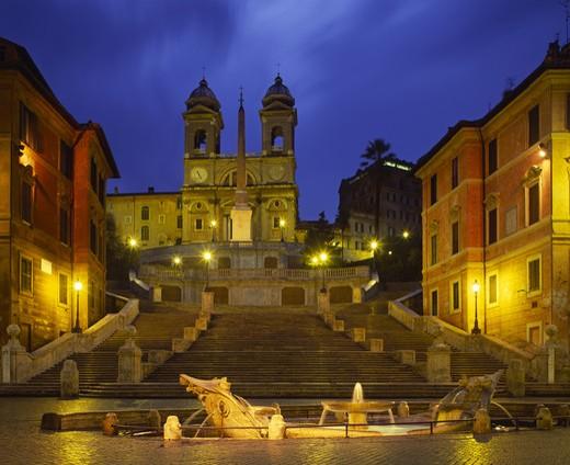 Spanish Steps & Piazza Di Spagna : Stock Photo