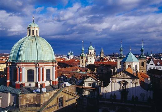 Prague, Old Town Rooftops : Stock Photo