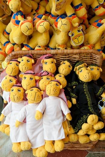 Camel soft toys for sale in tourist souvenir shop. : Stock Photo