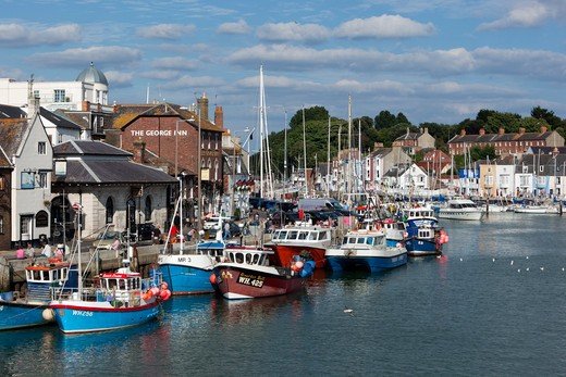 England - Dorset - Weymouth - The Old Harbour : Stock Photo