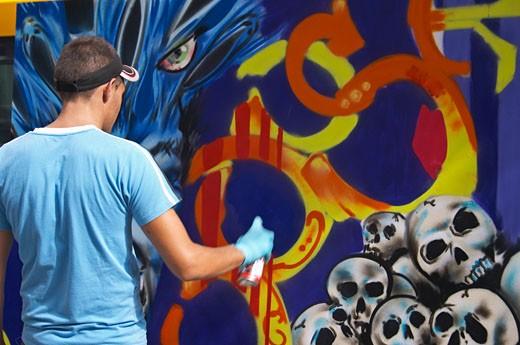 Graffiti Festival, Las Palmas : Stock Photo