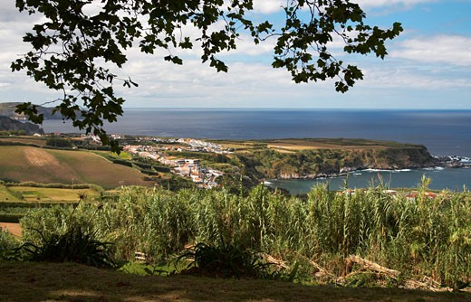 Azores, Small Village On The North Coast Of Sao Miguel Island. : Stock Photo