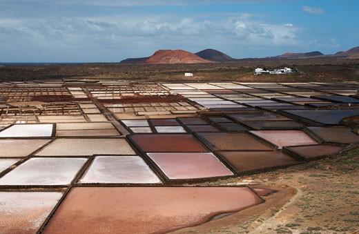Lanzarote: Salinas De Janubio (saltworks) : Stock Photo
