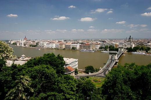 Budapest, Danube River : Stock Photo
