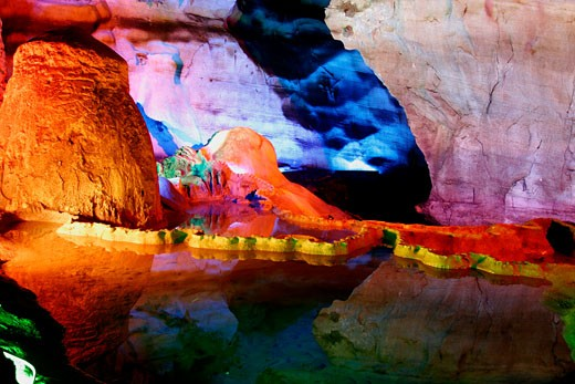 Guilin,  Lu Di Caves (Reed Flute Caves) : Stock Photo