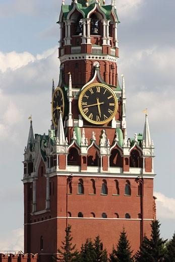 Moscow, Kremlin, Saviour Gate Tower : Stock Photo