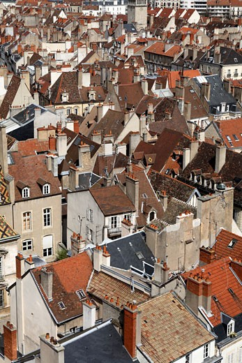 Dijon Cityscape From Tower Of Philippe Le Bon : Stock Photo