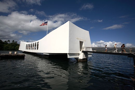 Uss Arizona Memorial In Pearl Harbor : Stock Photo