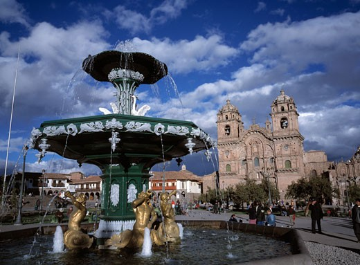 Plaza De Armas & Church Of La Compania : Stock Photo