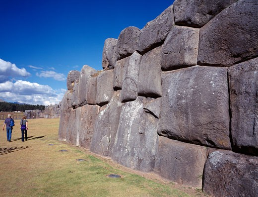 Sacsaywaman Fortress Ruins, Wall, Day : Stock Photo