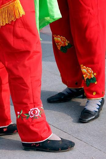 Xi'an, Local Yang'ge Dancers : Stock Photo
