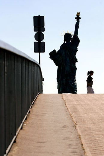 Paris, Statue of Liberty : Stock Photo