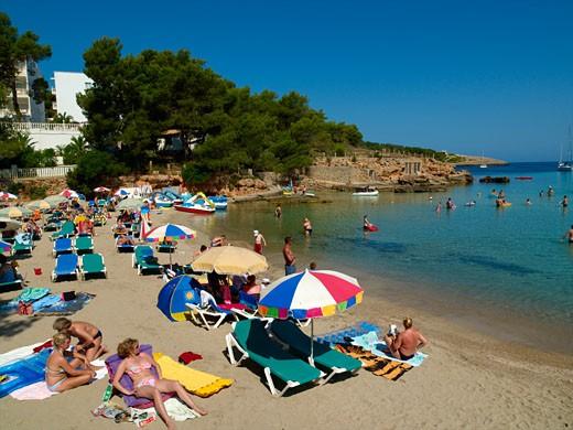 Ibiza, Cala Portinatx : Stock Photo
