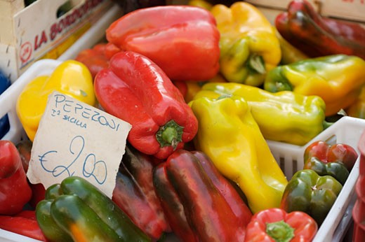 Rome, Market, Peppers : Stock Photo