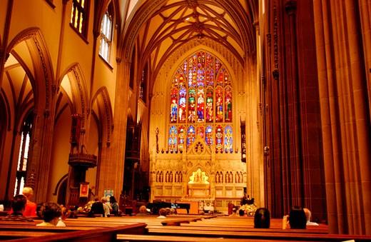 New York City, Holy Trinity Church : Stock Photo