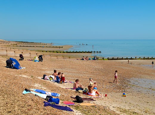 West Worthing, Ferring Beach : Stock Photo