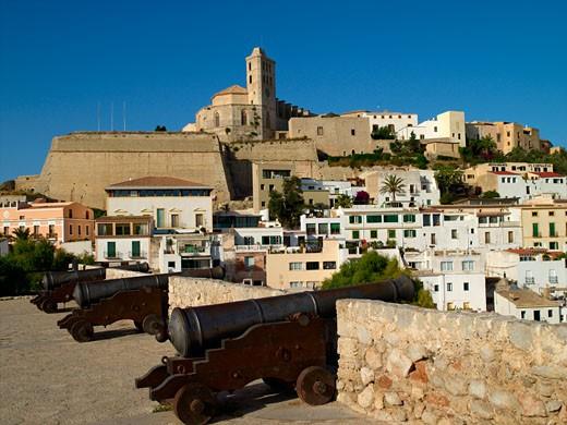 Ibiza Town From Baluard De Santa Llucia : Stock Photo