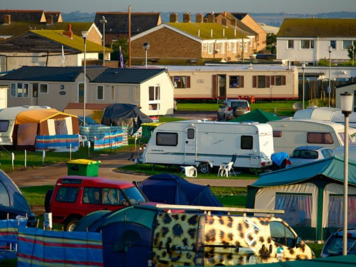 Camping & Mobile Homes Holiday Park : Stock Photo