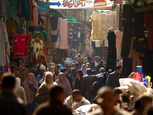 Cairo Street Market Near Khan El-khalili : Stock Photo