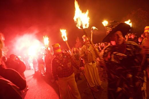 Rye, Guy Fawks Night Procession : Stock Photo