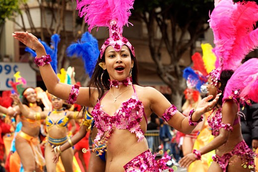 San Francisco Carnival Held In The Mission District : Stock Photo