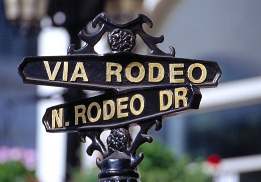 Beverly Hills, Rodeo Drive Sign : Stock Photo