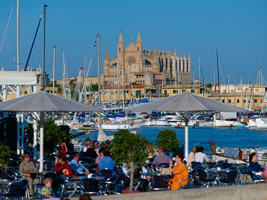 Palma, Cathedral Harbour : Stock Photo