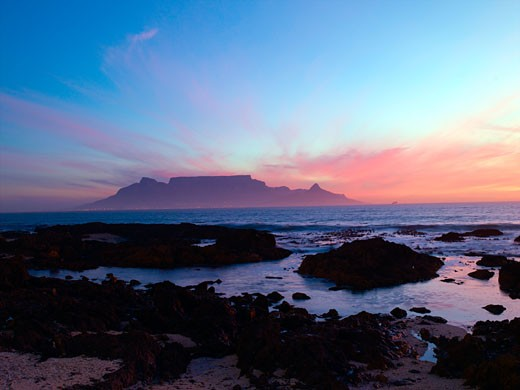 View Towards Cape Town From Bloubergstrand : Stock Photo