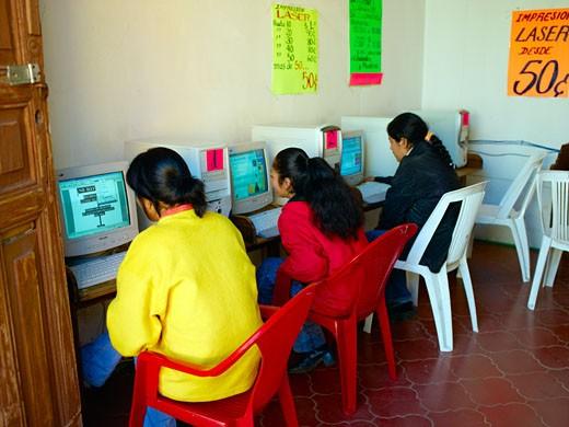 Mexico, Internet Cafe : Stock Photo