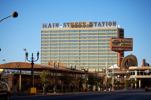 Main Street Station Hotel Casino Downtown Las Vegas : Stock Photo