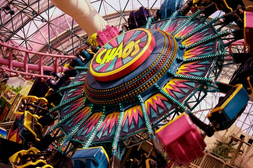 Chaos Fun Fair Ride At Circus Circus Las Vegas : Stock Photo