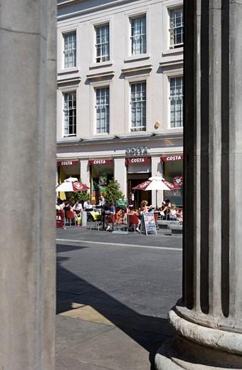 Glasgow, Royal Exchange Square : Stock Photo