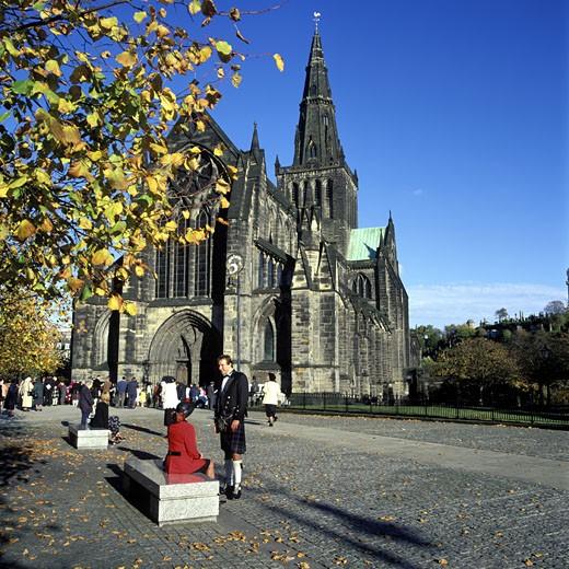 Autumn Wedding, Church Exterior, Day : Stock Photo
