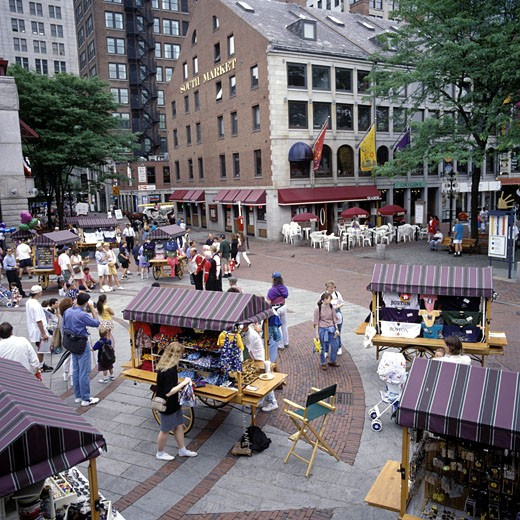 Quincy Market, Daytime View : Stock Photo