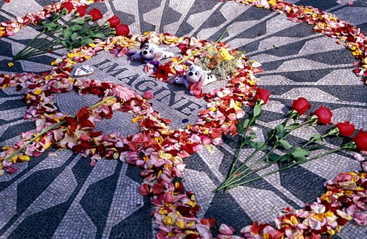 Central Park, Imagine John Lennon : Stock Photo
