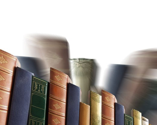 Concept Photography: Row of books : Stock Photo