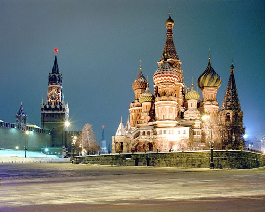 Moscow, Cathedral of St. Basil at Red Square : Stock Photo
