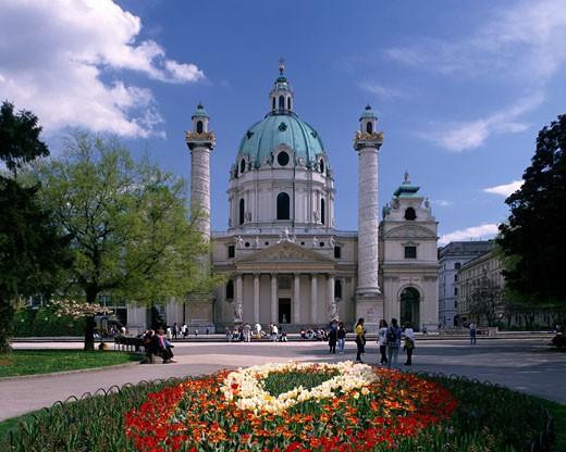 Vienna, Karlskirche (charles's Church) : Stock Photo