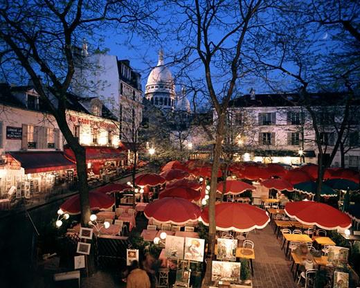 Place Du Tetre By Night : Stock Photo