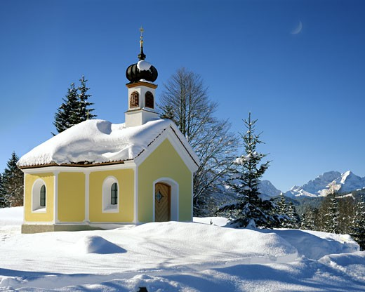 Maria Rast Near Mittenwald : Stock Photo