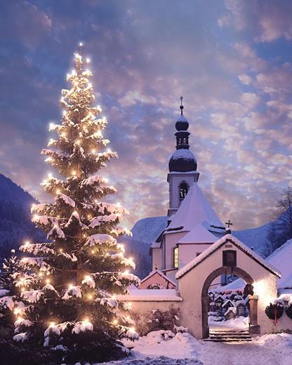 Christmas At Ramsau : Stock Photo