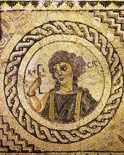 Mosaic Of Ktisis : Stock Photo