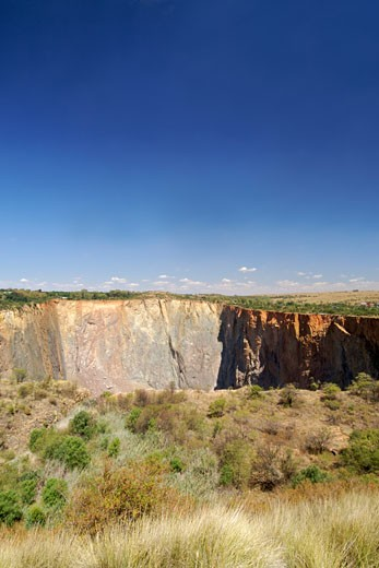 The Cullinan Diamond Mine . Here The Largest Diamond In The World (the Cullinan Diamond) Was Found. : Stock Photo
