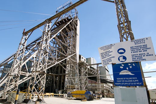 The Exterior Of Shaft Number One Of The Cullinan Diamond Mine : Stock Photo