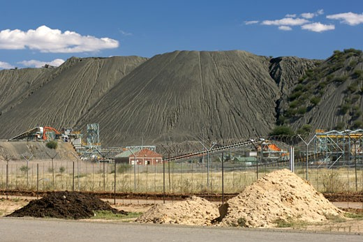 The Combined Treatment Plant (ctp) Run By The De Beers Company To Re-process Diamond Mine Tailings. : Stock Photo