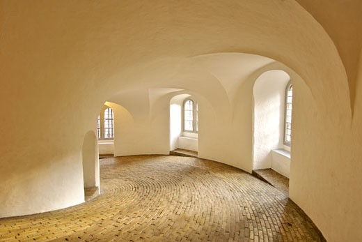 The Round Tower, Copenhagen, Tower Has No Staircase But Rather A Paved, Spiral Walkway. : Stock Photo