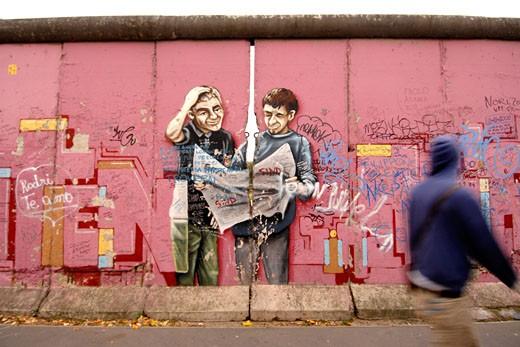 Berlin,  East Side Gallery,  Berlin Wall : Stock Photo