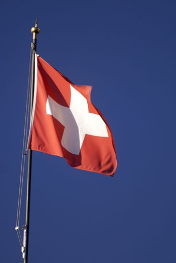 The Swiss Flag. : Stock Photo