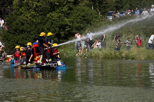 Lewes Raft Race : Stock Photo